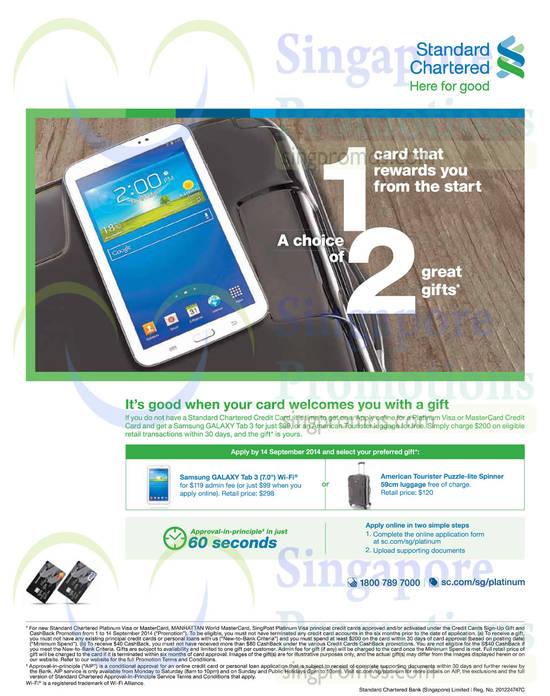 3 Sep Samsung Galaxy Tab 3 7.0, American Tourister Spinner Luggage