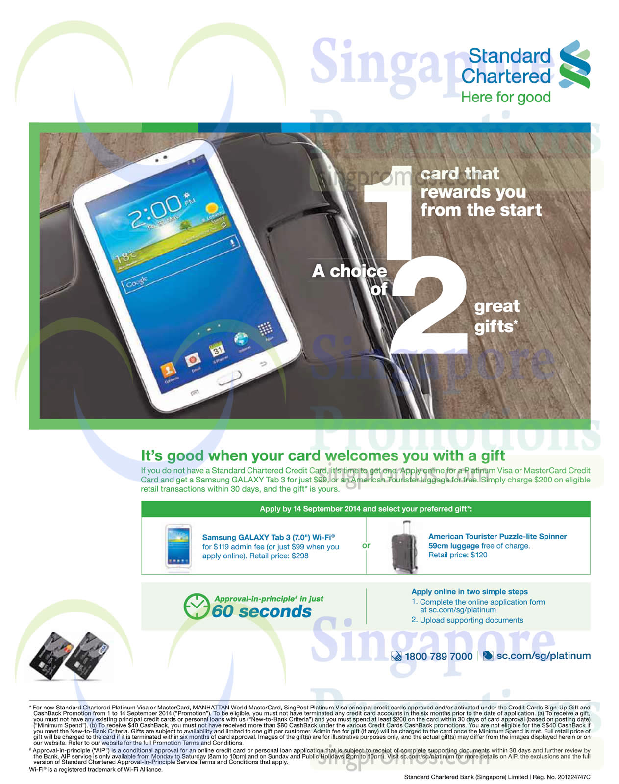 Standard chartered apply for credit card get free luggage 10 jul standard chartered apply for credit card get free luggage 10 jul 14 sep 2014 falaconquin