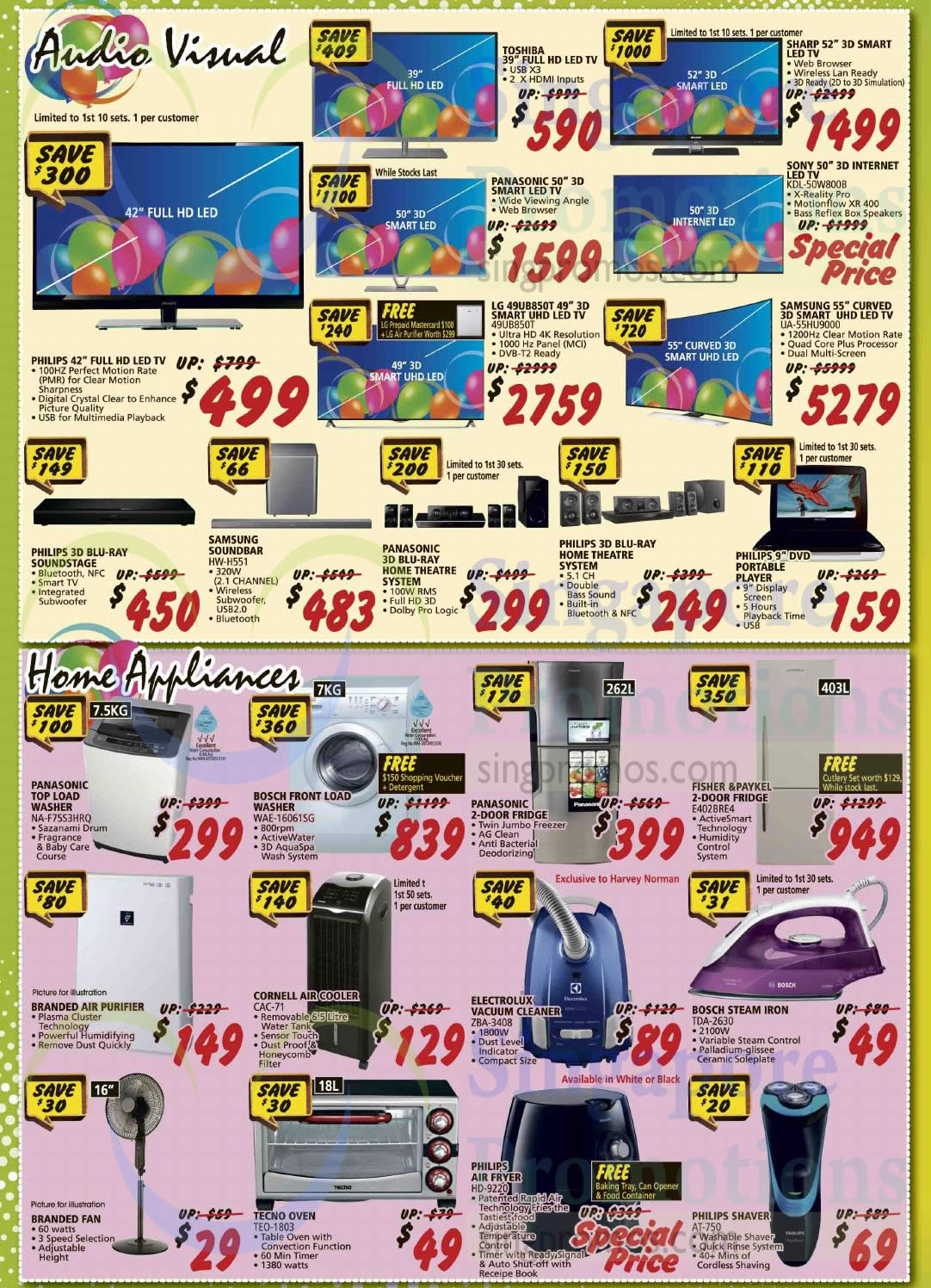 Audio Visual Home Appliances Toshiba Sharp Sony