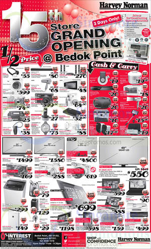 Featured image for Harvey Norman Bedok Point Opening Specials 26 – 28 Jul 2014
