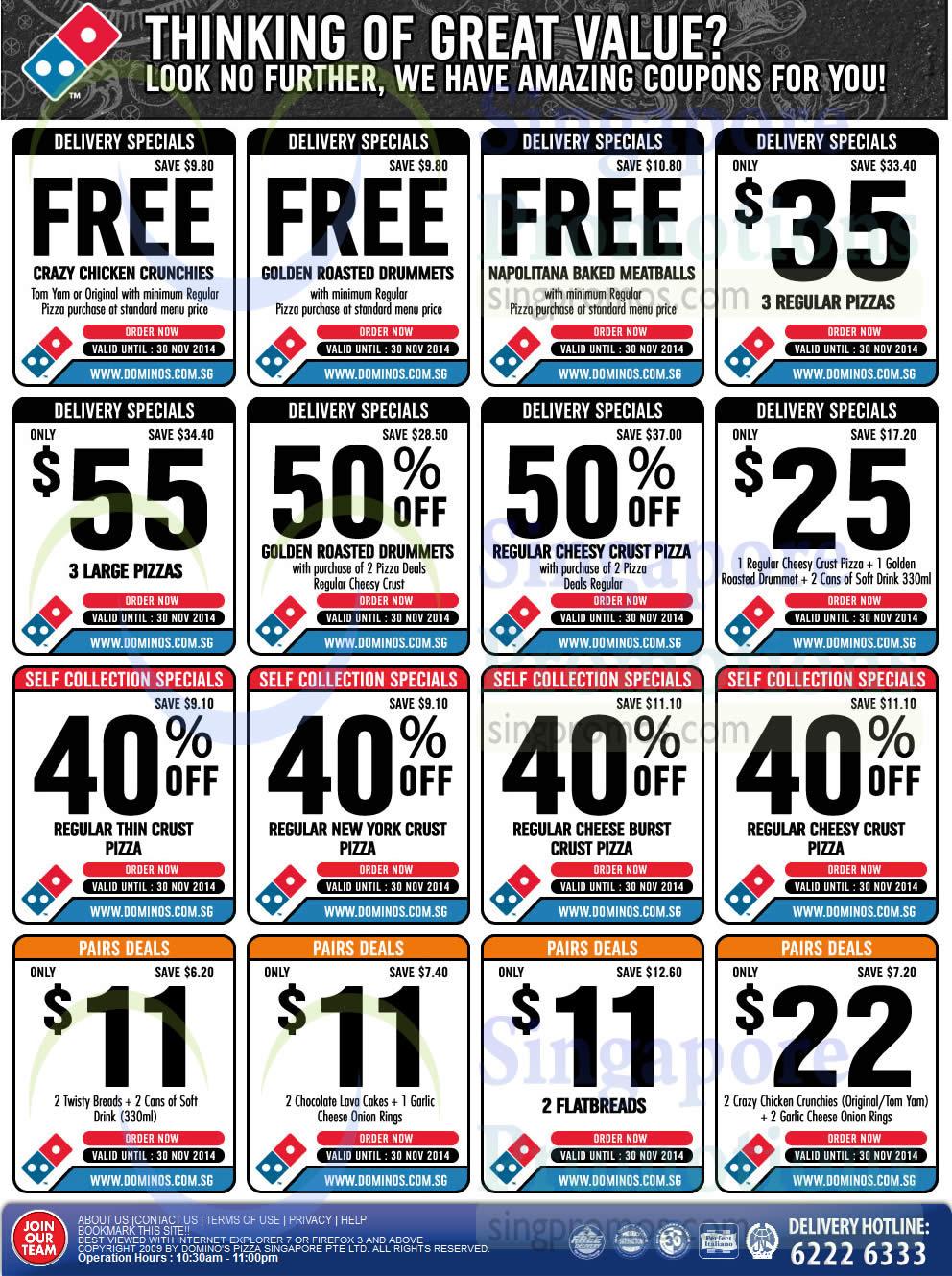 Dominos discount coupons brisbane