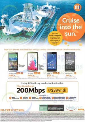 Featured image for M1 Smartphones, Tablets & Home/Mobile Broadband Offers 12 – 18 Jul 2014
