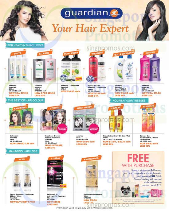 Haircare Shampoos, Conditioners, Hair Colour, Hair Cream, Anti-Hair Fall Treatment, Growth Accelerator, Phyto, Klorane, Tesemme, Sunsilk