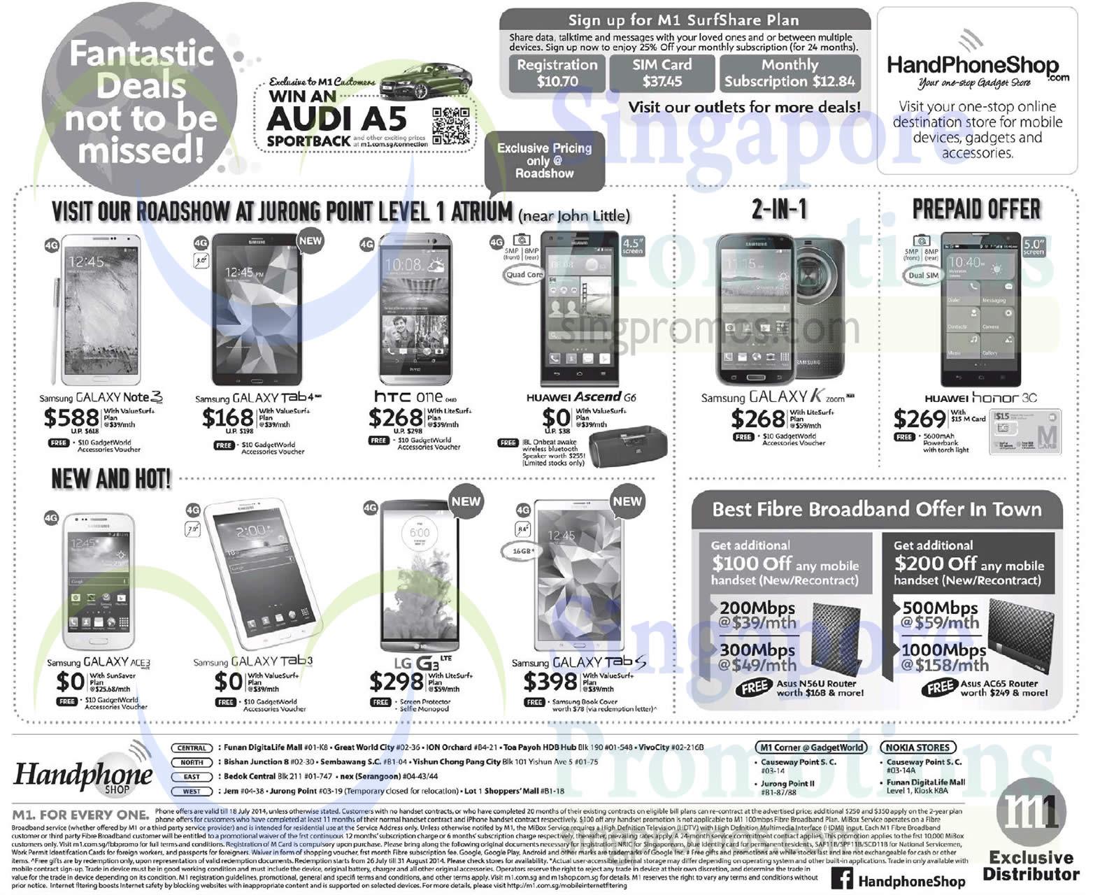Handphone Shop Roadshow Samsung Galaxy Note 3 Tab 4