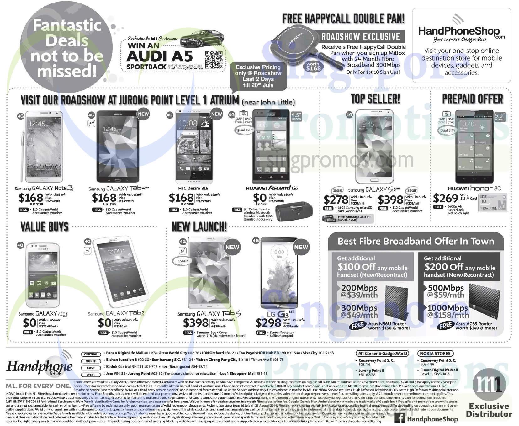 Handphone Shop Roadshow Samsung Galaxy Note 3 Tab 4 S