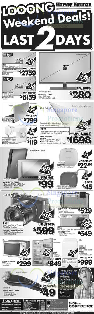 Featured image for Harvey Norman Long Weekend Offers 27 – 28 Jul 2014