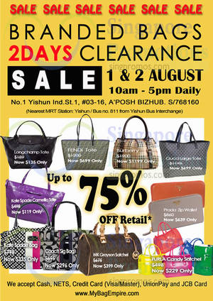MyBagEmpire Luxury Branded Handbags Sale 1 – 2 Aug 2014. List of Fendi Bags  Prices Singapore ... 205eddf593717