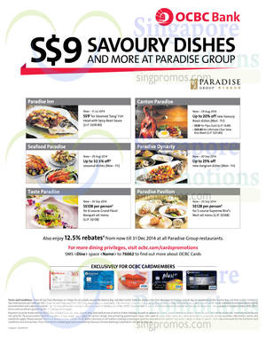 Featured image for Paradise Group of Restaurants Offers For OCBC Cardmembers 8 Jul – 30 Sep 2014