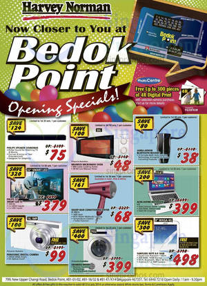 Featured image for Harvey Norman Opening Specials @ Bedok Point 10 – 31 Jul 2014