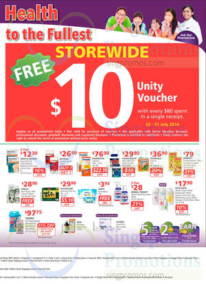 Featured image for NTUC Unity Health Offers & Promotions 25 Jul – 20 Aug 2014