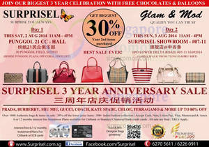 Featured image for Surprisel Branded Handbags Sale @ Punggol 21 CC 2 Aug 2014