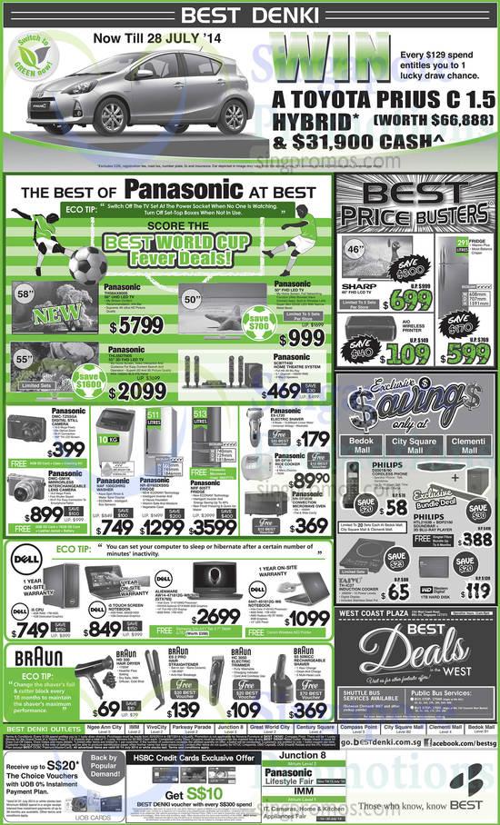 Panasonic TH-58AX800S TV, Panasonic TH-L55DT60S TV, Panasonic SCBTT430 Home Theatre System, Panasonic ES-LT20 Shaver, Panasonic SR-DF181 Rice Cooker, Panasonic NN-DF383B Oven, Panasonic NAF 100G3HRQ Washer, Panasonic NR-BY602XSSG Fridge, Panasonic NRF 605TT Fridge, Panasonic DMC-TZ55GA Digital Camera, Panasonic DMC-GM1K Digital Camera, Dell AW14-471812G-W8-SLR Notebook, Dell 5447-451812G-W8 Notebook, Philips D2001B/90 Phone, Philips HTL2163B Soundbar, Philips BDP2180 Player, Taiyo TH-IC27 Cooker, Braun HD330 Hair Dryer, Braun ES 2 PRO Hair Straightener, Braun HC 3050 Trimmer and Braun S5 5090CC Shaver