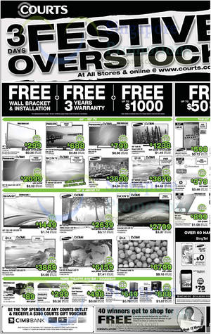 Featured image for Courts 3 Days Festive Overstock Clearance Sale 26 – 28 Jul 2014