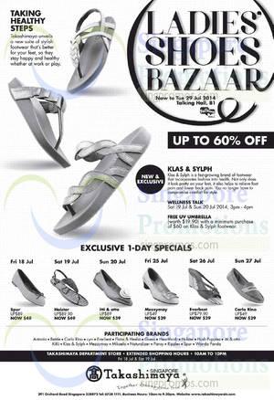 Featured image for Takashimaya Ladies Shoes Bazaar 17 – 29 Jul 2014