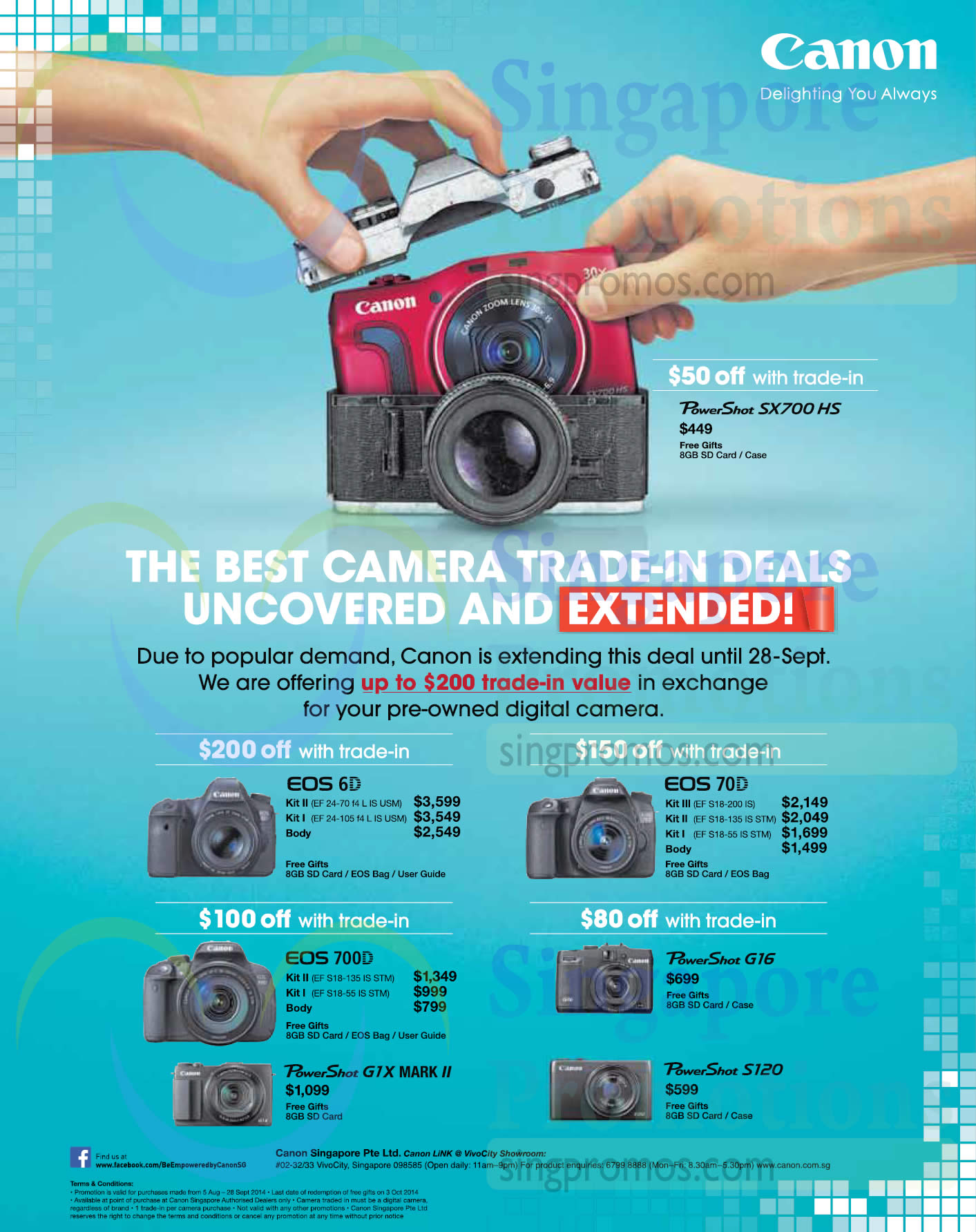 Canon Digital Cameras Trade in fers 8 Aug – 28 Sep 2014 UPDATED 6 Sep 2014