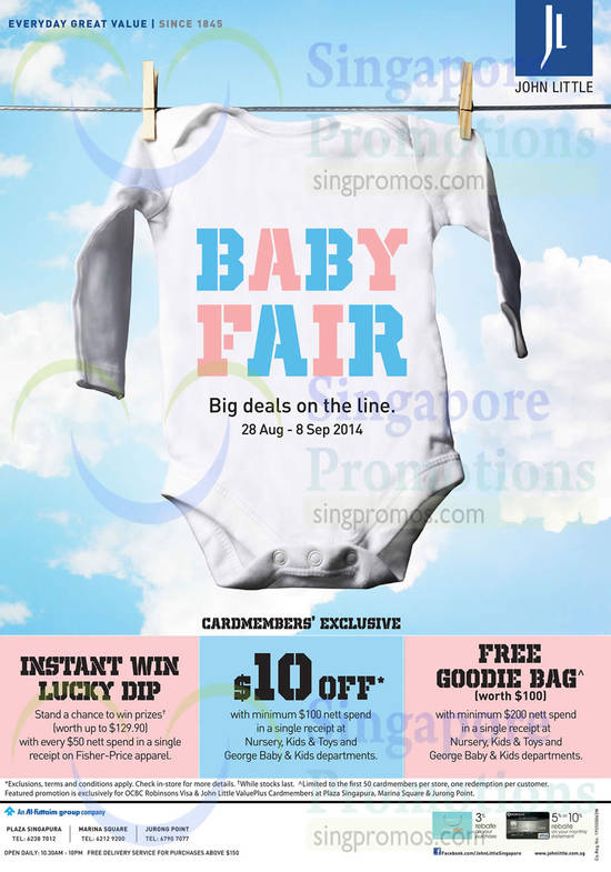 Baby Fair, Instant Win Lucky Dip, George Baby n Kids