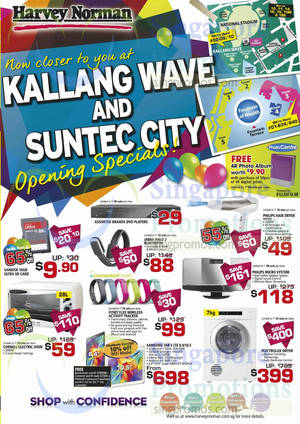 Featured image for Harvey Norman Kallang Wave & Suntec City Opening Specials 30 Aug – 14 Sep 2014