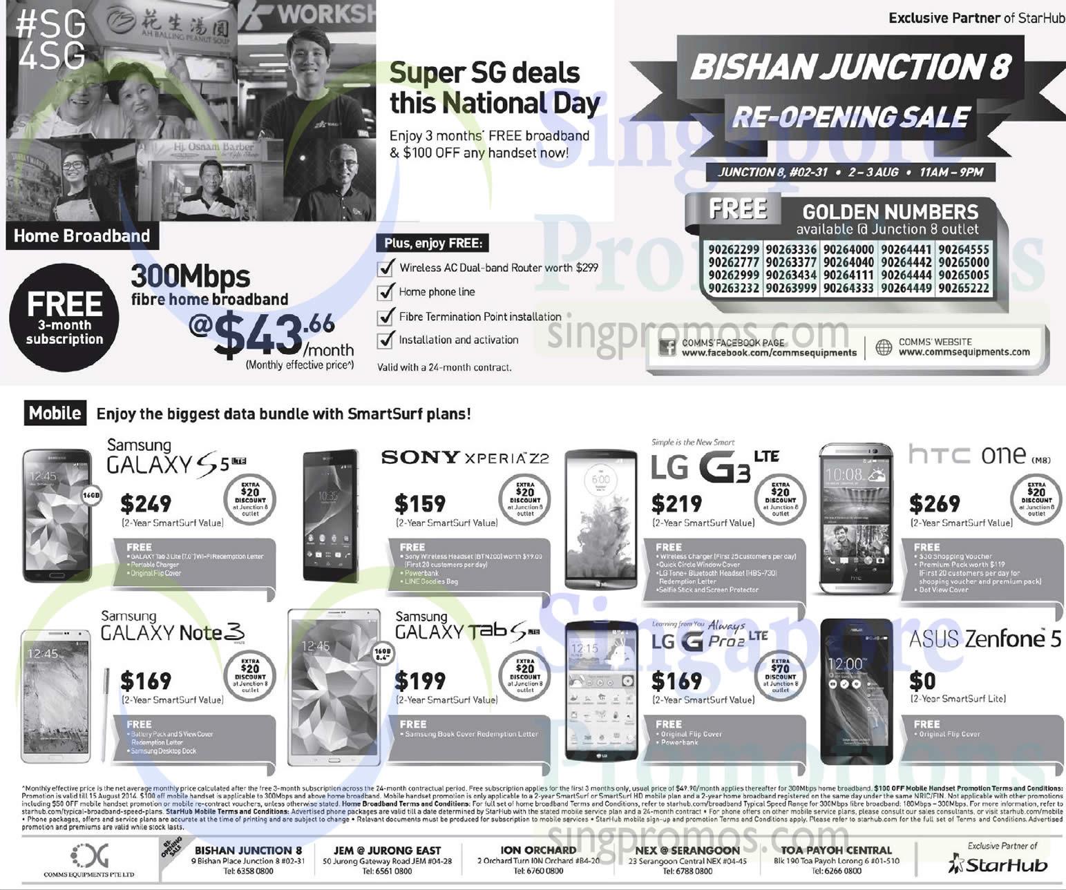 Comms Equipments Samsung Galaxy S5 Note 3 Tab S Sony