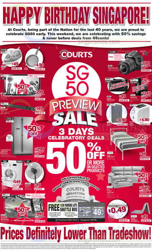 Featured image for Courts SG 50 Preview Sale 9 – 11 Aug 2014