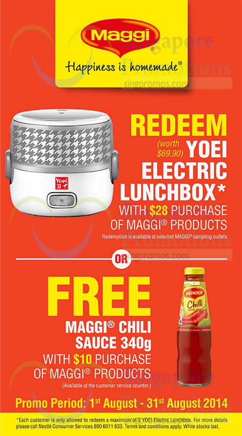 Free Yoei Electric Lunch Box, Chili Sauce