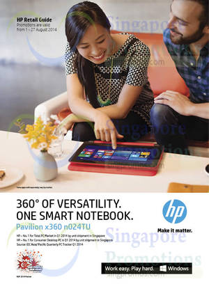 Featured image for HP Notebooks, Desktop PCs & Accessories Promotion Offers 1 – 27 Aug 2014