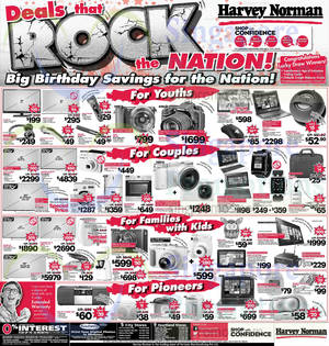 Featured image for Harvey Norman Digital Cameras, TVs , Appliances & Other Electronics Offers 2 – 8 Aug 2014