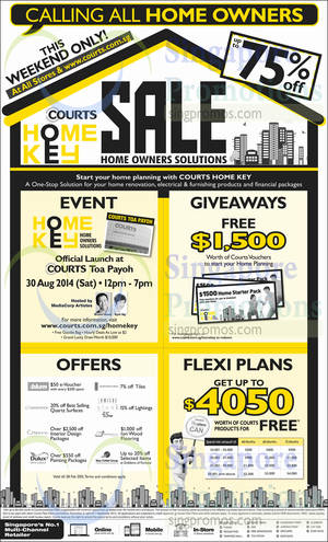 Featured image for Courts Home Owners Sale 30 – 31 Aug 2014