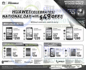 Featured image for Huawei Smartphones & Tablets No Contract Offers 9 – 18 Aug 2014