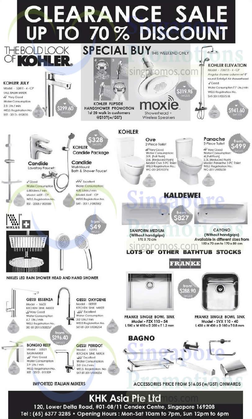 Kohler Nikles Franke Amp More Kitchen Bathroom Fixtures