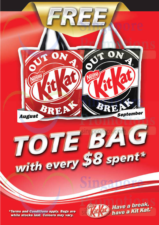 KitKat Tote Bag With 8 Dollar Spent