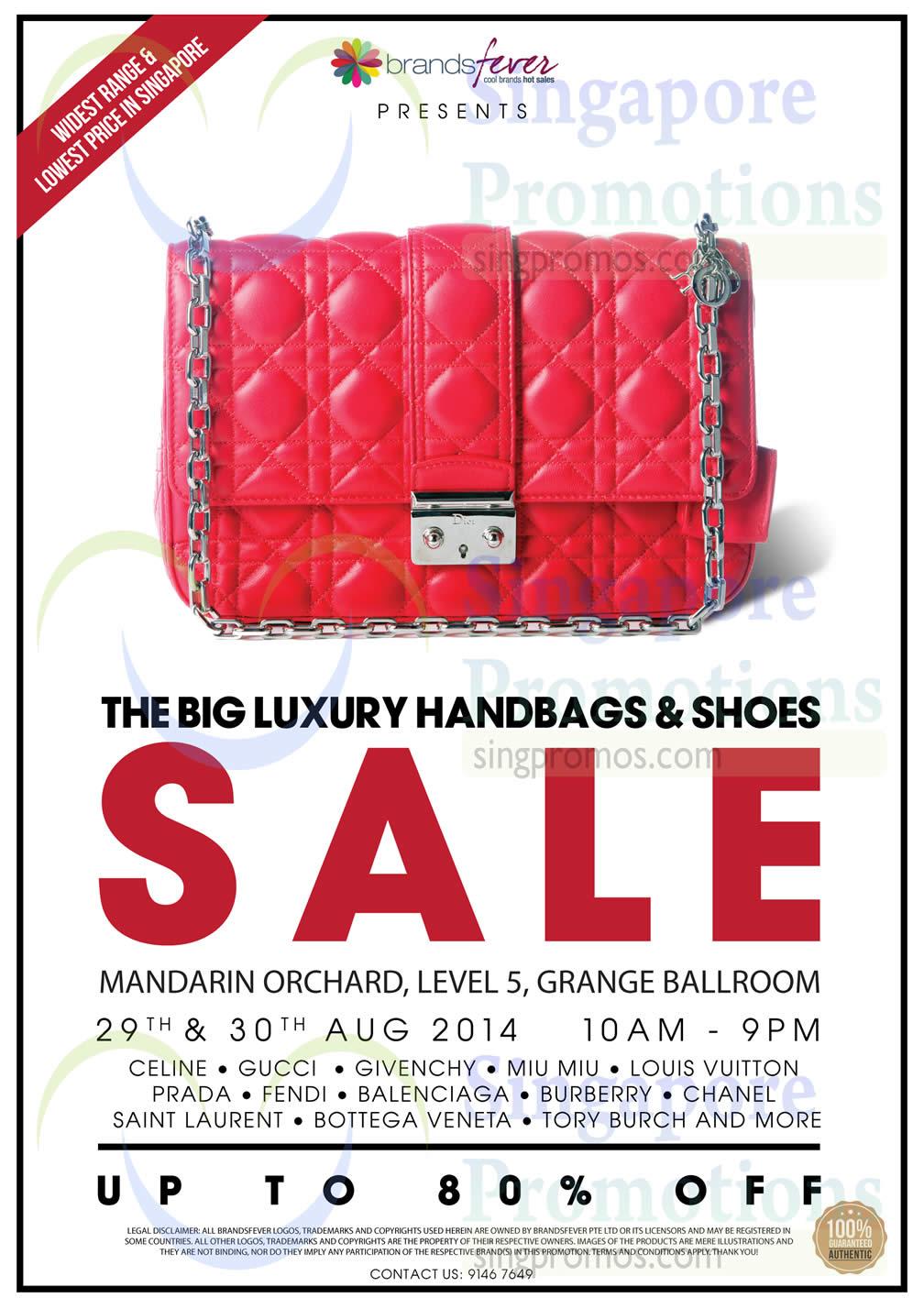 Brandsfever Handbags   Footwear Sale   Mandarin Orchard 29 – 31 Aug 2014 c48c65397b610