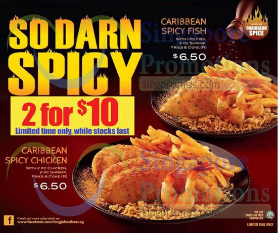 Long john silver s new caribbean spicy chicken fish 3 for Long john silver s fish and chips
