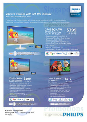 Featured image for Philips Monitors National Day Specials Price List 8 – 24 Aug 2014