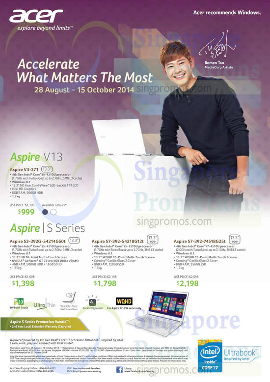 Featured image for Acer Notebooks, Desktop PCs, Tablets & Monitors Price List 28 Aug - 15 Oct 2014