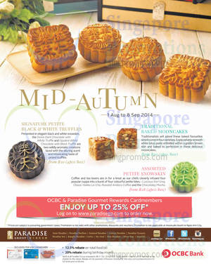 Featured image for Paradise Group Mooncake Offers 1 Aug – 8 Sep 2014
