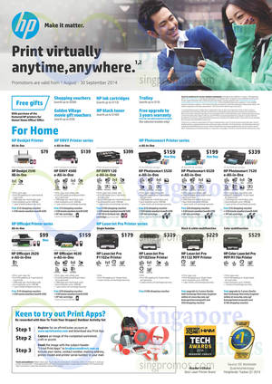 Featured image for HP Printers & Scanners Promotion Offers 1 Aug – 30 Sep 2014