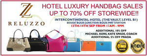 Featured image for Reluzza Luxury Branded Handbags Sale @ Intercontinental Hotel 13 – 14 Sep 2014