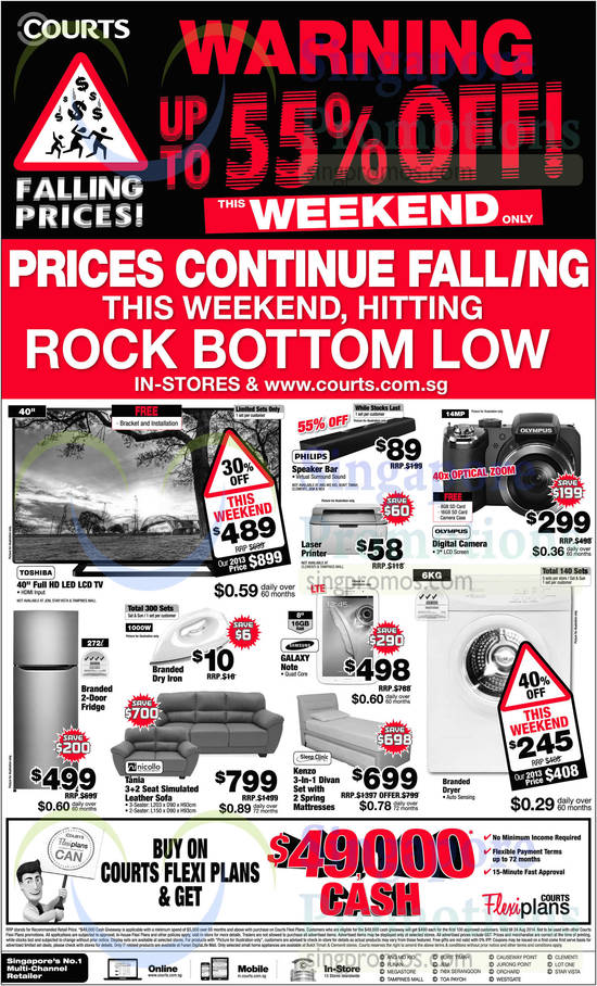 Featured image for Courts Falling Prices Offers 23 - 24 Aug 2014