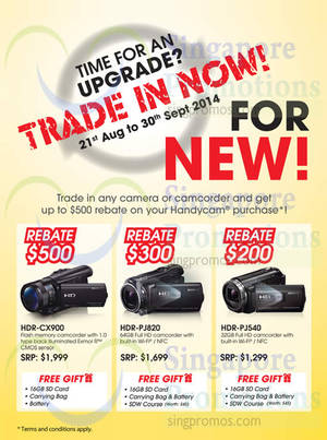Featured image for Sony Digital Handycam Camcorders Trade-in Promo 21 Aug – 30 Sep 2014