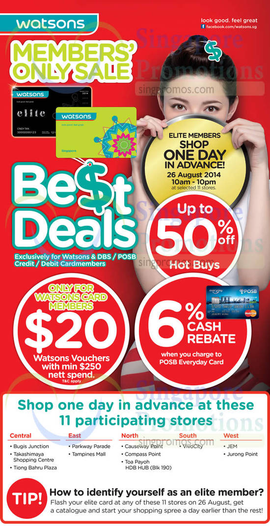Up To 50 Percent Hot Buys, 6 Percent Cash Rebate, 20 Dollar Voucher Promotions