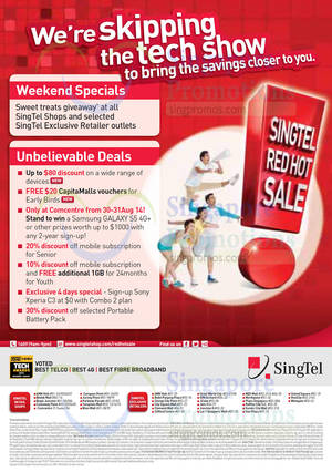 Featured image for Singtel Smartphones, Tablets, Home / Mobile Broadband & Mio TV Offers 28 – 31 Aug 2014