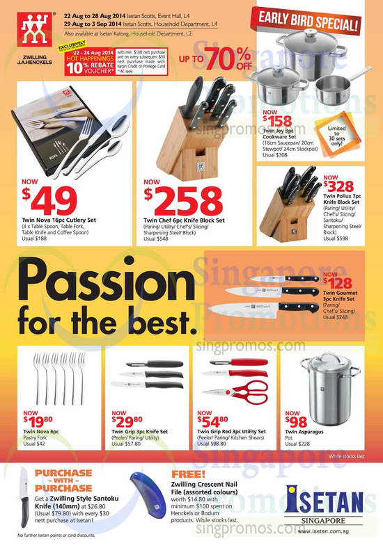 Zwilling J.A.Henckels Cutlery Sets, Knife Sets, Utility Sets, Purchase with Purchase