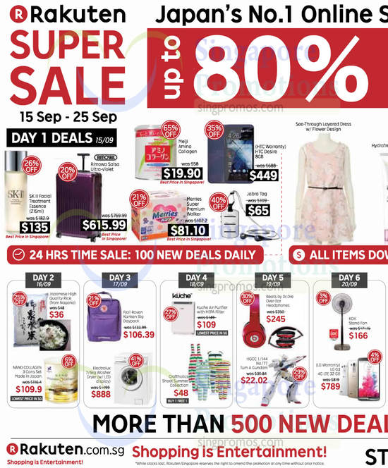 15 Sep to 20 Sep Offers, Day 1 Deals