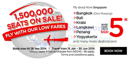 1500000 Seats Sale Fly Direct