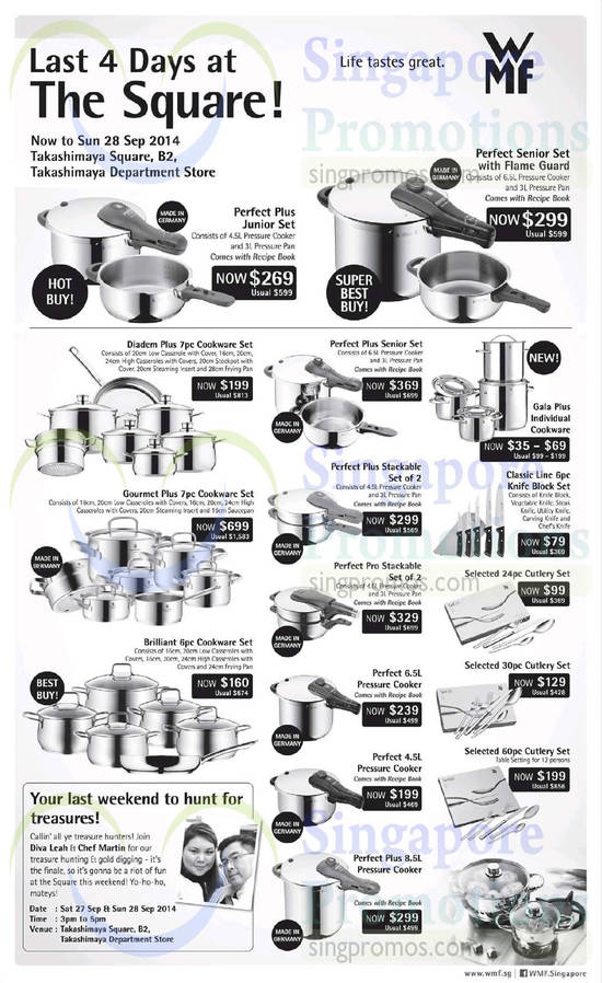 25 Sep WMF Cookware Sets Perfect Plus, Diadem Plus, Gourmet Plus, Classic Line, Brilliant, Perfect Pro, Gala Plus