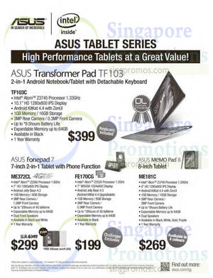 Featured image for ASUS Tablets Offers 24 Sep 2014