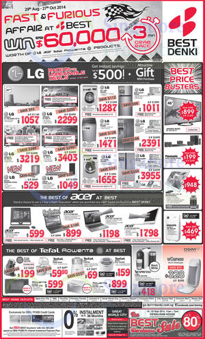 Featured image for Best Denki TV, Appliances & Other Electronics Offers 12 – 15 Sep 2014