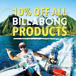 Featured image for Billabong 10% OFF Storewide Promo @ Takashimaya 30 Sep – 6 Oct 2014
