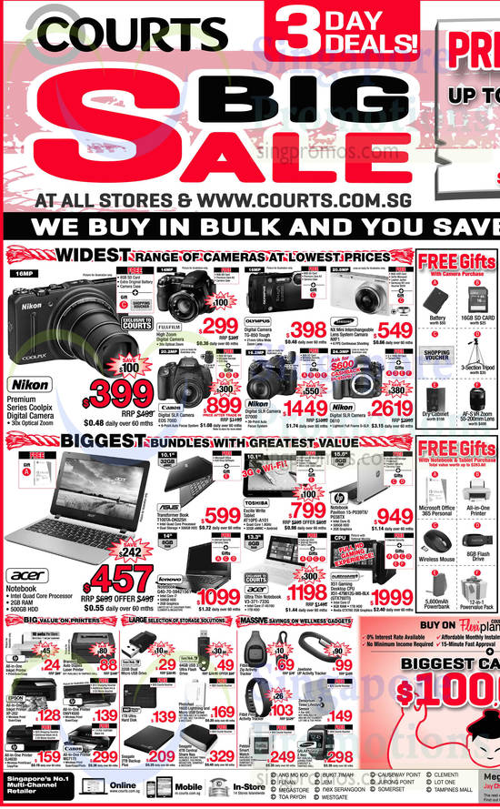 Featured image for Courts 3 Days Big Sale Offers 13 - 15 Sep 2014