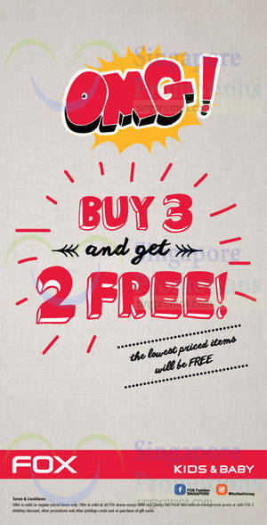 Featured image for Fox Kids & Baby Buy 3 & Get 2 FREE Promo 2 Oct 2014